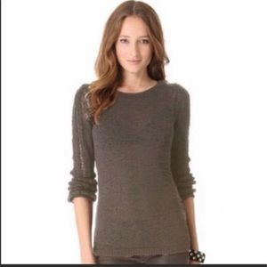 Rachel Zoe tan sweater